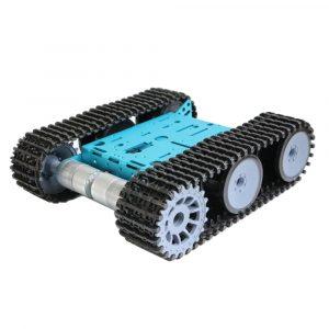 DIY Smart RC Robot Car Metal Chassis Spårat Tank Chassi Med GM325-31 Gear Motor För Arduino