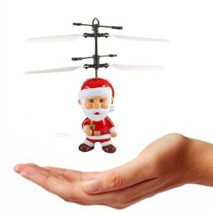 Inducerad Flying Santa Claus Induktiv Toy Julklapp till Kid