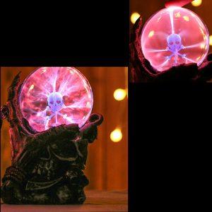 6,7 tums magisk skelett plasma kula sfär ljus kristall ljus magisk skrivbord lampa inredning
