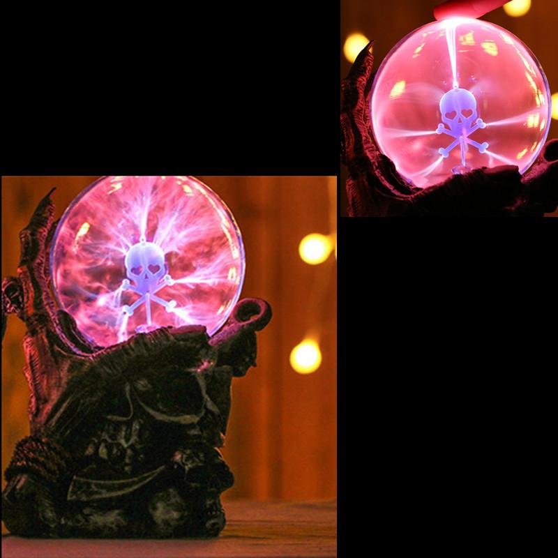 Kanon 6,7 tums magisk skelett plasma kula sfär ljus kristall ljus magisk UQ-44