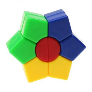 Classic Magic Cube Leksaker Set PVC Sticker Block Pussel Speed ​​Hexagon Cube