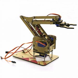DIY 4DOF Arduino Akryl RC Robot Arm Gripper Utbildnings Kit Med MG90S Servos