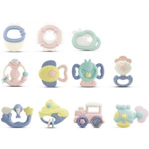 10st barns Rattles Teether Grab Toys Skaka Bell Rattle Toy Gift Set för Baby Infant Newborn