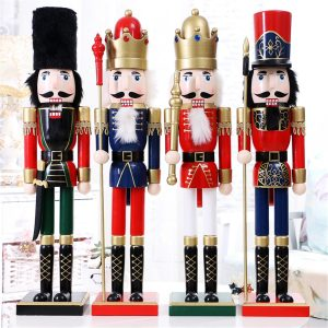 60cm Nut Cracker Soldier Juldekoration Nötknäppare Xmas Kitchen Wooden Docka