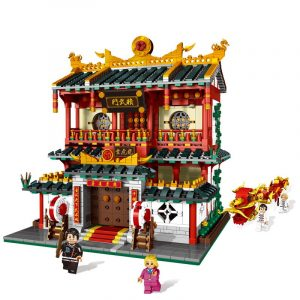 Kinesisk stil Fist av raseri Store Set Byggstenar Tegelstenar DIY Leksaker Modell 2882Pcs