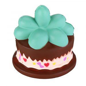 Squishy Plant Chocolate Cream Cake 9cm långsammare Rebound Leksaker med Packaging Gift Decor