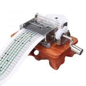 15 Tone DIY Hand Cranked Rosewood Music Box Med Hole Puncher Och Paper Tapes