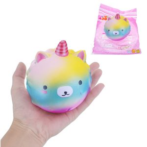10cm Squishy Galaxy Unicorn långsammare med Packaging Collection Gift Soft Toy