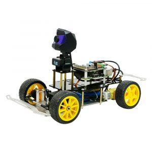 XIAO R Raspberry 3B + DIY Smart RC Robot Bilpatronsappkontroll Utbildningssats med HD-kamera