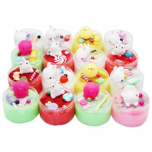 Fluffy DIY Ritning Slime Squishy Cat Chick Crystal Silk Cloud Mud 100ml Stress Reliever Kids Play Toy