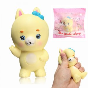 Squishy Yellow Goat Jumbo 10cm långsammare med Packaging Animals Collection Gift Decor Toy