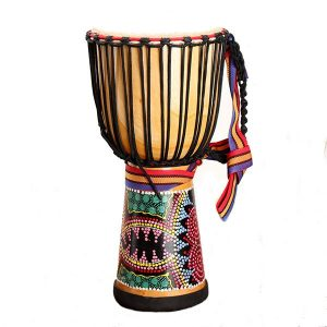 10 tums Afrikansk handtrumma Mahogany Body Musical Instrument