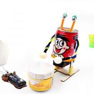 DIY Electric Drumming Robot Pedagogisk Vetenskaplig Uppfinning Leksaker Kits för barn