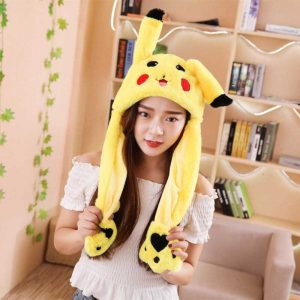 30cm Yellow Cartoon Ear Hat kan flytta Airbag Cap Stuffed Plysch Present Record Video Dance Toy Neckerchief