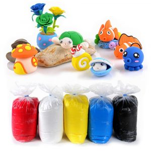 1000G / Bag Super Light Clay Polymer Clay DIY Projekt Hantverk Slime Soft Plasticine Learning Education Toy