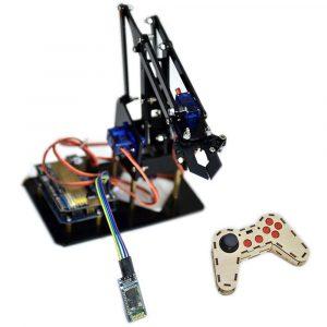 DIY STEAM Arduino Smart RC Robot Arm Akryl Utbildnings Kit Med Servos