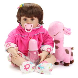 NPK Docka 22 '' Reborn Silicone Handgjorda levande realistiska nyfödda babyleksaker för flickor födelsedag