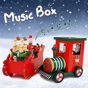 Christmas Music Box Födelsedag Presentmusik Toy Reindeer Train Design