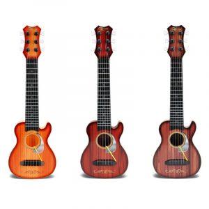 6 Strängar Slumpmässig Färg Plast Ukulele Uke Musikinstrument Toy To Children Gift