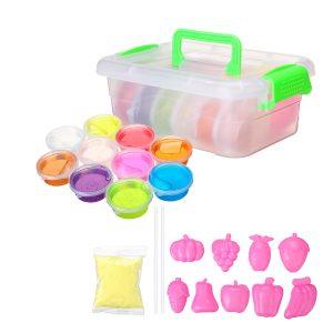DIY Crystal Slime Kit 10 färger Fluffy Clay Stress Relief Mjuka Plasticine Leksaker