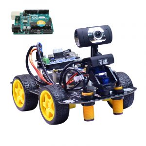Xiao R DIY Smart Robot Wi-Fi Videokontrollbil med kamera Gimbal Arduino UNO R3 Board