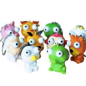 5PCS Squeeze Spoof Toy Stress Reliever Toy med nyckelring Slumpmässig färg