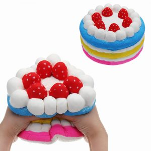 Giant Strawberry Cake Squishy 25 * 15cm Stort långsamt stigande mjuk toysuppsamling med förpackning