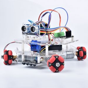 DIY Arduino STEAM Smart RC Robot Car Programmerbar Omni Wheels Educational Kit