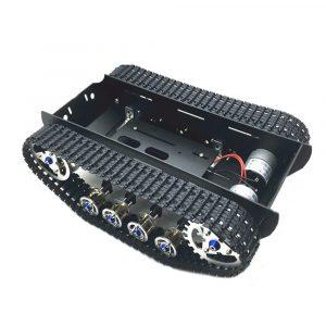 DIY A-10 Dampad Aluminous Smart RC Robot Car Chassis Spårad Tank Chassi För Raspberry Pi Arduino