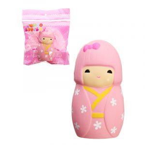 Squishy Sakura Cherry Blossom Girl Docka 11,5cm långsammare med Packaging Collection Gift Decor Toy
