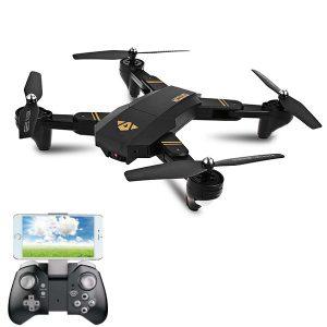 VISUO XS809HW WIFI FPV med vidvinkel HD-kamera Höghållarläge Vikbar arm RC Drone Quadcopter RTF