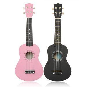 21 tums Basswood Sopran Ukulele Hawaiian Guitar 12 Frets