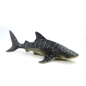 28cm Realistisk Whale Shark Sea Animal Figur Solid Plast Ocean Toy Dyscast Modell