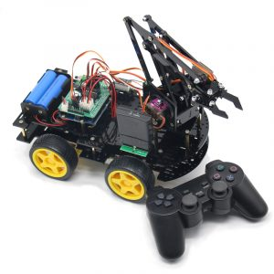 DIY meArm Robot Arm Car för Arduino Program med PS Wireless Remote Control