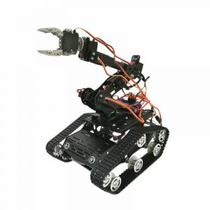 6DOF WiFi Arduino Smart Robot Tank Chassis Med Arm Clawer 7 Servos