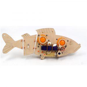 DIY RC Robot Fisk STEAM Educational Kit Robot Toy Gift