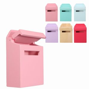 1/12 Scale Colorful Mail Box DIY Dockhus Miniatyr Möbler Tillbehör Till Dockhus