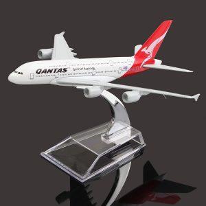 16cm flygplansmetallplansmodellflygplan A380 AUSTRALIEN QANTAS flygplansskala skrivbordsleksak