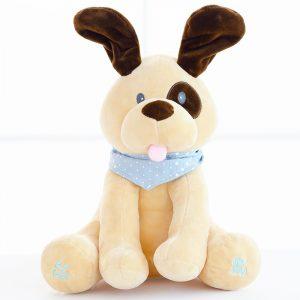 Fyllda Djur & Plysch Elektrisk Hund Docka Spela Musik Dölj Och Sök Utbildning Älska Baby Toy