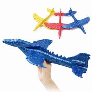 Tröghetsskum EPP-flygplan Dinosaur Winged Dragon Plane Toy 48cm Handlansering Glidflygplan