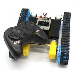 DIY 2.4G 4CH RC Robot Tank Car Educational Kit