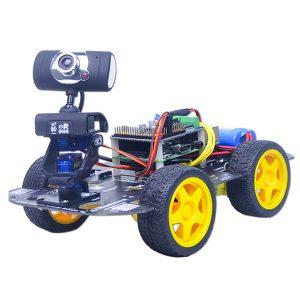Xiao R GFS DIY Smart RC Robot Wifi Videokontrollbil med kamera Gimbal Raspberry Pi 3B + Board