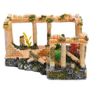Forntida romerska ruiner prydnad Dockhus dekoration Presentleksaker 23 * 16 * 12.5cm