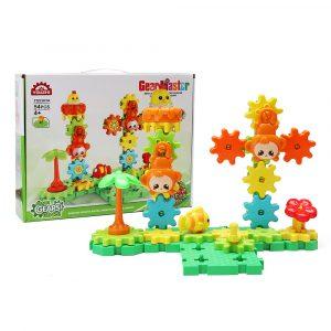 nöjesfält DIY Roterande växelblock leksaksgåva monteringsklockor Uppsättning 54st Leksaker
