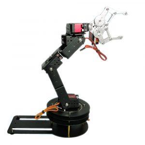 DIY 6DOF Matel RC Robot Arm Utbildningssats för Arduino