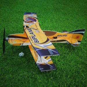 Mini-biplan Hornet 400mm Wingspan 3D Fixed Wing RC Flygplan Epp D Board Indoor Outdoor F3P KIT