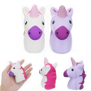 Squishy Unicorn Horse 10.5cm Mjukt långsam Rising Collection Gift Decor Toy