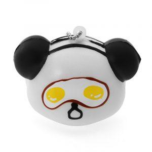 Squishy Panda ansikte med bollkedja mjuk telefonväska Bältessamling Gift Decor Toy