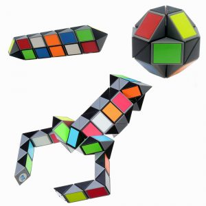 3D Colorful Magic Cube 72 Segments Speed ​​Twist Snake Magic Cube Pusselklistermärke Leksaker