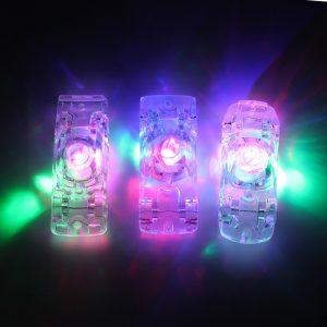3PC Roligt Mini Crystal Blinkande Bil Nyhet Leksaker Vänner Barn Födelsedagspresent